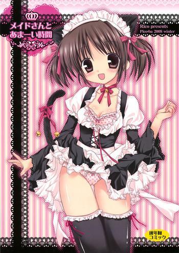 Stockings Maid-san to Amai Jikan Cumshot